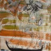 Christian Ludwig Attersee Amorpause 2015 Mischtechnik auf Papier 31 x 22 cm