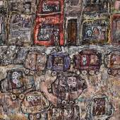 Property from an Important Collection Jean Dubuffet Maison Fondée Signed and dated 61; signed, titled and dated mars/avril 61 on the reverse Oil on canvas 45 3/4 by 35 in Estimate $12/18 million © 2017 ESTATE OF JEAN DUBUFFET / ARTISTS RIGHTS SOCIETY (ARS), NEW YORK, NY