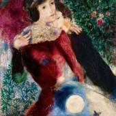 Lot 8 Property from a Distinguished Private Collection Marc Chagall Les Amoureux Painted in 1928 Oil on canvas 46 1/8 by 35 5/8 in. Estimate $12/18 million © 2017 ARTISTS RIGHTS SOCIETY (ARS), NEW YORK / ADAGP, PARIS