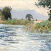 "144   Otto Altenkirch ""Mulde bei Rodigt"". 1920, 5.500 €"
