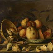 Lot 14 Property From A Private European Collection Balthasar van der Ast Still Life With Basket Of Shells, A Plate With Fruits And Insects Estimate $800/1.2 million Sold for $ 1,815,000