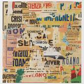 RICHARD MEIER Dominica signed, titled and dated 19 March 2015 on the reverse multimedia collage on 2ply museum board image: 36¼ by 35 in. 92.1 by 88.9 cm. sheet: 44 by 44 in. 111.8 by 111.8 cm.