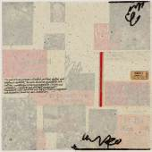 Richard Meier Holland America Cruises signed, titled and dated 4 November 2014 silkscreen, multimedia collage and handwriting on 320 gram Coventry Rag paper image: 16 1/4 by 16 1/4 in. 41.3 by 41.3 cm. sheet: 30 by 30 in. 76.2 by 76.2 cm.