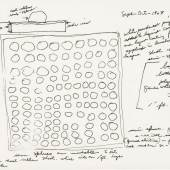Another Kind Of Language: Drawings By Sculptors From The Betsy Witten Collection Lot 26 Eva Hesse Study for Schema dated Sept-Oct-1967 ink on tracing paper 8 7/8 by 11 7/8 in. 22.5 by 30.2 cm. Estimate $100/150,000