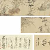 Ma Shouzhen Orchid, Bamboo and Lingzhi Ink and color on paper, handscroll 34by369.4cm.,31⁄4by1451⁄2in., Estimate $100/150,000 Sold for $495,000