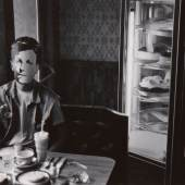 Lot 101 David Wojnarowicz 'Rimbaud In New York' (In Diner) signed, titled, dated, and editioned '1/3' in ink on the reverse, framed, Whitney Museum of American Art exhibition and P. P. O. W., Inc., labels on the reverse, 1978, printed in 1990, no. one in an unrealized edition of 3 7 1/8  by 9 1/2  in. (18.1 by 24.1 cm.) Estimate $12/18,000
