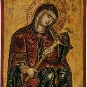 2 - Gottesmutter Achtyrskaja (von Achtyrka)  Veneto-Kretisch, 17. Jh. Katalogpreis: 4.700 - 5.200 €