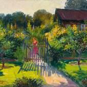 Sommerliches Gemälde von Hugo Oehme zur Versteigerung (Lot 985, Limitpreis: 1500€)