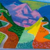DAVID HOCKNEY, PACIFIC COAST HIGHWAY AND SANTA MONICA, 1990. ESTIMATE $20,000,000–30,000,000.