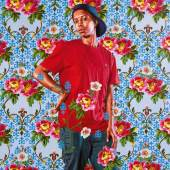 Kehinde Wiley  Charles I Signed and dated 2018 on the reverse Oil on canvas 72 by 60 in.; 182.9 by 152.4 cm. Estimate $100/150,000 Courtesy the artist; Roberts Projects, Los Angeles; Sean Kelly Gallery, New York; Stephen Friedman Gallery, London; Galerie Templon, Paris