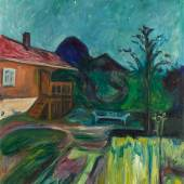 Lot 36 Property Of A Private European Collector Edvard Munch Sommernatt (Summer Night) Signed E Munch (lower left) Oil on canvas 45 1/2 by 40 in.; 115.5 by 101.5 cm Painted in 1902 Estimate $10/15 million Sold for $11,292,200