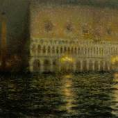 Lot 112 Property from an Important Private Collection Henri Le Sidaner Le Palais Ducal Signed Le Sidaner (lower left) Oil on canvas 31 1/4 by 44 1/2 in. 81 by 113.3 cm Painted in Venice in 1906. Estimate $300/500,000 Sold for $855,000