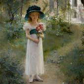 Lot 13 Property From A Private Midwestern Collection Albert Edelfelt Au Jardin signed A. EDELFELT, inscribed Paris and dated 1882 (lower right) oil on canvas