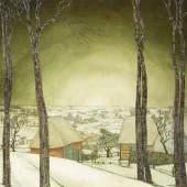 VALERIUS DE SAEDELEER (1867 Aalst - 1941 Leupegem), Winterland-schaft, um 1927, Öl auf Leinwand. 85,5 x 94,5 cm