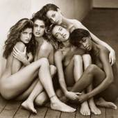 Lot 180 Property Of A Private Collector, New York Herb Ritts 'Stephanie, Cindy, Christy, Tatjana, Naomi' mounted, signed, titled, dated, editioned '10/25,' and annotated 'Hollywood' in pencil and with the photographer's copyright/credit stamp on the reverse, framed, 1989  18 3/8  by 19 7/8  in. (46.7 by 50.5 cm.) Estimate $60/90,00