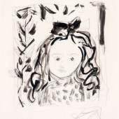 "716   Otto Dix ""Kleines Mädchen"" (Porträt Nana Dix ?). 1967. Ausrufpreis: 2.200 - 3.000 €"