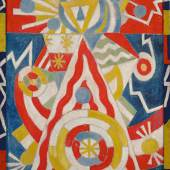 The Collection of Ed and Deborah Shein Marsden Hartley Pre-War Pageant Inscribed 43.A Paris days Pre War H 47 (on stretcher) Oil on canvas 41 5/8 by 34 1/8 in. Painted in 1913. Estimate in the region of $30 million