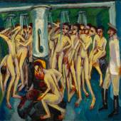 Ernst Ludwig Kirchner Das Soldatenbad (Artillerymen) Signed E. L. Kirchner (lower right) Oil on canvas 551⁄8 by 591⁄8 in.; 140 by 150 cm Painted in 1915. Estimate $15/20 million