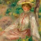 Pierre-Auguste Renoir Femme au jardin Painted circa 1890 Estimate $1/1.5 million Sold for $1.4 million