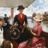148 Julius LeBlanc Stewart, Full Speed, oil on canvas $855,000 (£662,329) $600,000 - 800,000