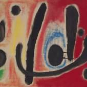 327 Joan Miró, Composition (Hommage à Edgar Varèse I), Oil on canvas $855,000 (£662,329) $800,000 - 1,200,000