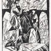 """730   Lyonel Feininger """"Spaziergänger"""". 1918. Ausrufpreis: 5.000-6.000 €"""
