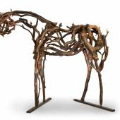 Lot 28 Deborah Butterfield Madrone (Cody) cast bronze 88½ x 96 x 62 in.; 224.8 x 243.8 x 157.5 cm. Executed in 2000, this work is unique. Estimate $220/280