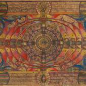 Lot 34 Adolf Wölfli Der San Salvathor graphite, colored pencil and crayon on paper 58 1/2 x 83 in.; 148.6 x 210.8 cm Executed in 1926.  Estimate $150/200,000 Sold for $795,000