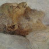 Gustav Klimt, Alter Mann auf dem Totenbett, 1899  © Belvedere, Wien