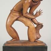 Ignaz Gabloner, Der Dieb, um 1920, Zirbe gebeizt  © TLM