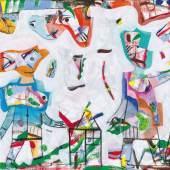 Anselm Glück, wir 3 (ich bin genug), 2019, Acryl auf Leinwand, 65 x 100 cm