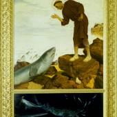 Arnold Böcklin Der heilige Antonius predigt den Fischen, 1892 Öl auf Holz, 152 x 105 cm Leihgabe im Kunsthaus Zürich