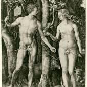 Albrecht Dürer Adam und Eva, 1504 Kupferstich, 25,1 x 19 cm Kunsthaus Zürich, Grafische Sammlung