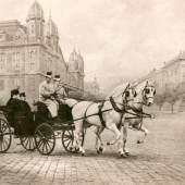 """""""Königin Elisabeth und König Franz Joseph vor dem Westbahnhof am 30. Oktober 1897"""" (544 KB) Foto Koller, Fotoarchiv des Ungarischen Nationalmuseums"""