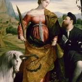 Hl. Justina (1.2 MB) Alessandro Bonvicino, gen. Moretto da Brescia (um 1498 - 1554 Brescia) Um 1530 Pappelholz, H. 200 cm, B. 139 cm © Kunsthistorisches Museum Wien