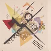"Wasily Kandinsky (1866 – 1944) ""Fond  1985) ""Dessins Poblanc"", von 1922."
