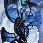 František Kupka  Lines, Planes, Depth II (Abstract Composition), 1913  Öl auf Leinwand  72 x 66,5 cm  Adolf Loos Apartment and Gallery Prague  © VBK Wien, 2011