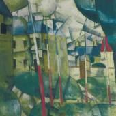 Fernand Léger  Dorflandschaft, 1912/13  Öl auf Leinwand  91 x 81 cm  Belvedere, Wien  © VBK Wien, 2011