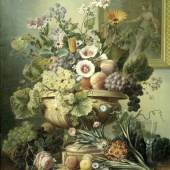 Eelke J. Eelkema, Still life with flowers and fruit, c. 1815-30