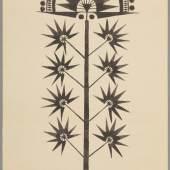 Lamak-Ornamente (413 KB) Walter Spies Sammlung Helene Potjewyd Bleistift und Tinte auf Papier, H. 280 mm, B. 210 mm © KHM mit MVK und ÖTM
