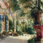 Im hauseigenen Gewächshaus ließen sich die Meistermaler der Königlichen Porzellan-Manufaktur Berlin bereits um 1887 bei Naturstudien für ihre Arbeiten inspirieren.