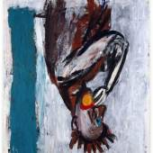 Georg Baselitz, Orangenesser (VIII) [Orange Eater (VIII)], 1980-1981. Oil and tempera on canvas. 200 x 162 cm (78,74 x 63,78 in) (GB 2281) Private collection, Germany