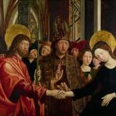 Michael Pacher, Vermählung Mariens, 1497-1498  © Belvedere, Wien, Foto: Johannes Stoll