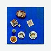 "Daniel Spoerri  ""Restaurant Spoerri Tisch"" (Tableau piège) Assemblage  Ergebnis: € 18.750"