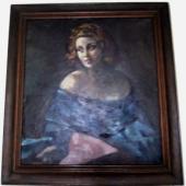 Josef Dobrowsky, Porträt von Lotte Tobisch, 1947