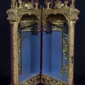 Tora-Behälter (Tik) 18. Jhdt. Holz, vergoldet, Textil © Sammlung der Jüdischen Gemeinde Venedig