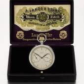 A. Lange & Söhne, silver open.faced keyless tourbillon watch, 1924 presentation box, Sotheby's Geneva 11 November 2019