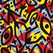A. R. Penck (d. i. Ralf Winkler) Feind hört mit Farbserigrafie, 1995 68,5 x 95 cm Galeriepreis: € 1800 Aufrufpreis € 20