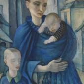 482 ANITA RÉE Blaue Frau, Vor 1919. Öl auf Leinwand Schätzung: € 40.000 Ergebnis: € 875.000