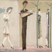 Mark Rothko (1903-1970) Underground Fantasy Um 1940 Öl auf Leinwand, 87,3 × 118,2 cm © 1998 Kate Rothko Prizel & Christopher Rothko/Bildrecht, Wien, 2019 © Foto: National Gall